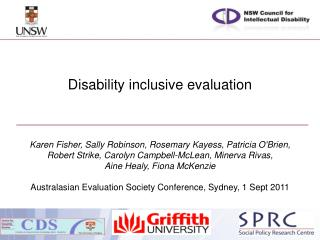 Disability  inclusive  evaluation