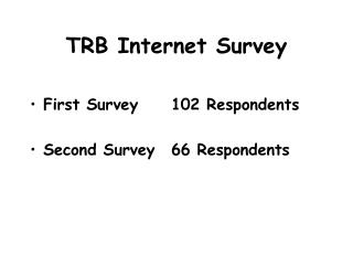 TRB Internet Survey