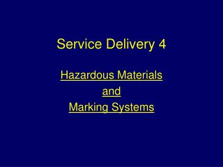 Service Delivery 4