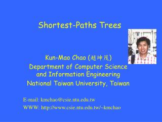 Shortest-Paths Trees