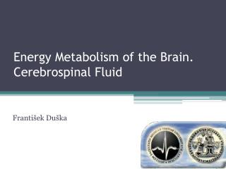 Energy Metabolism of the Brain. Cerebrospinal Fluid