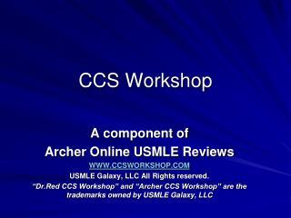 CCS Workshop