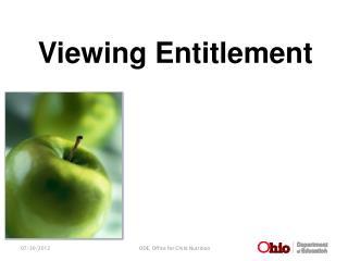 Viewing Entitlement