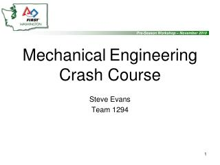 Mechanical Engineering  Crash Course