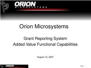 Orion Microsystems