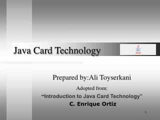 Java Card Technology