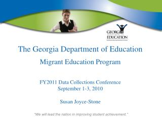 The Georgia Department of Education