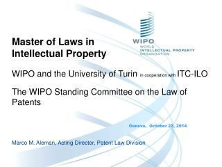 Master of Laws in Intellectual Property