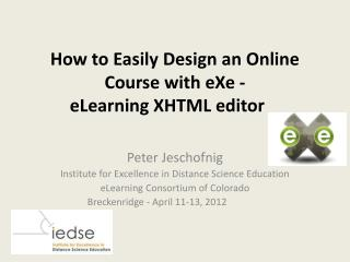 How to Easily Design an Online Course with  eXe  - eLearning XHTML editor