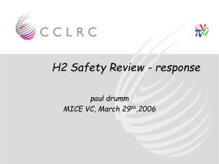 H2 Safety Review - response