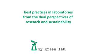 best practices in laboratories from the dual perspectives of  research and sustainability