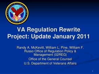 VA Regulation Rewrite Project: Update January 2011