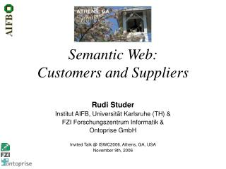 Semantic Web: Customers and Suppliers