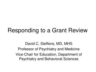 Responding to a Grant Review