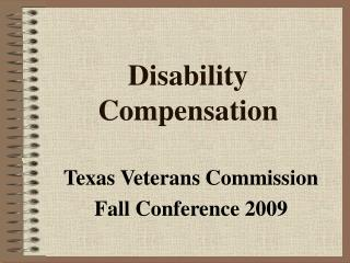 Disability Compensation