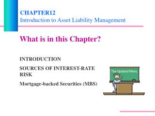 CHAPTER12 Introduction to Asset Liability Management