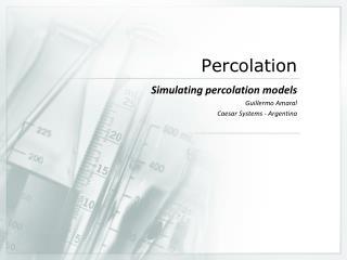 Percolation