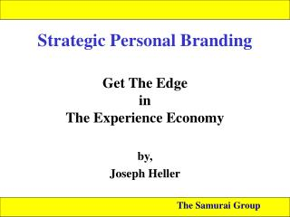 Strategic Personal Branding
