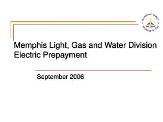 Memphis Light, Gas and Water Division Electric Prepayment
