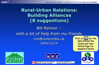 Rural-Urban Relations: Building Alliances (8 suggestions)