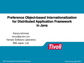 Preference Object-based Internationalization for Distributed Application Framework  in Java