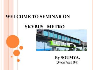 WELCOME TO SEMINAR ON