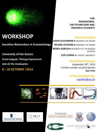 WORKSHOP Sensitive  Biomarkers in Ecotoxicology