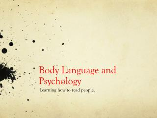 Body Language  and Psychology