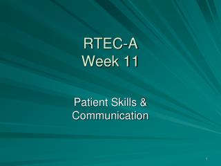 RTEC-A Week 11