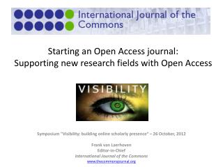 Starting an Open Access journal: Supporting new research fields with Open Access