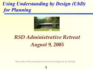 RSD Administrative Retreat August 9, 2005