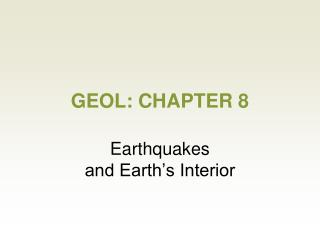 GEOL: CHAPTER 8