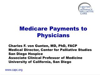 Medicare Payments to Physicians