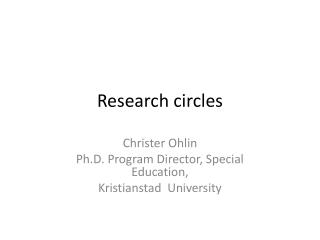 Research circles