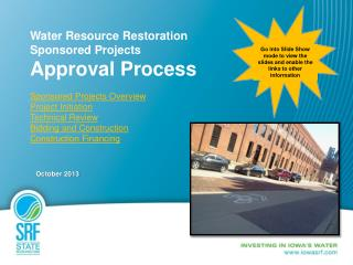 Water Resource Restoration  Sponsored Projects Approval Process Sponsored Projects Overview