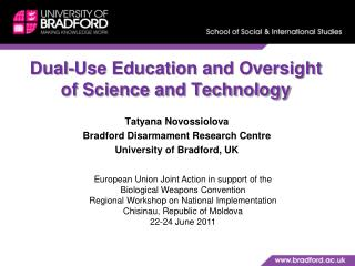 Dual-Use Education and Oversight of Science and Technology