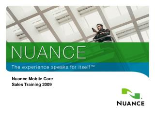 Nuance Mobile Care Sales Training 2009