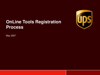 OnLine Tools Registration Process