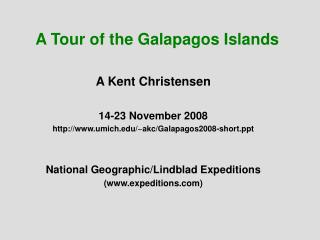 A Tour of the Galapagos Islands