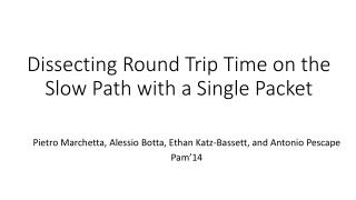 Dissecting Round Trip Time on the Slow Path with a Single Packet