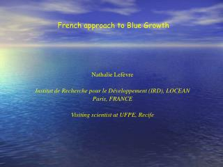 French approach to Blue Growth