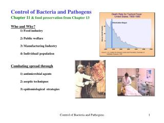 Control of Bacteria and Pathogens Chapter 11  & food preservation from Chapter 13 Who and Why?