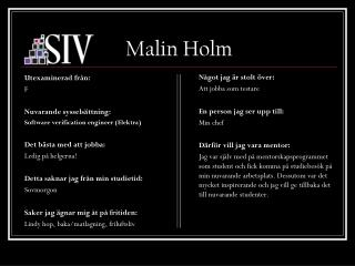 Malin Holm