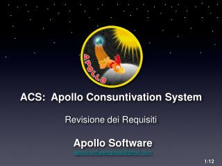 ACS:  Apollo Consuntivation System