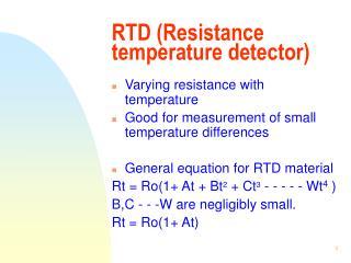 RTD (Resistance temperature detector)