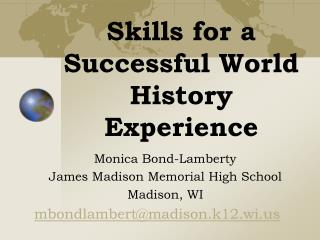 Skills for a Successful World History Experience