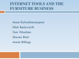 Internet Tools and the furniture Business