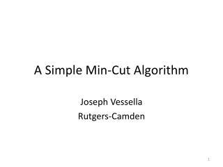 A Simple Min-Cut Algorithm
