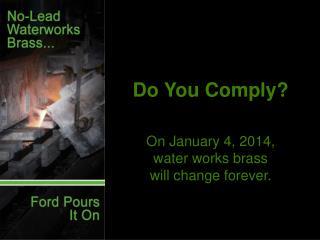 Do You Comply?