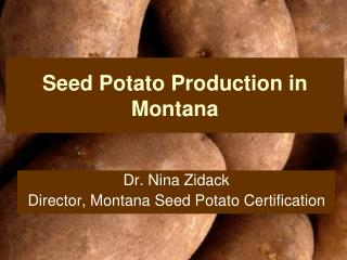 Seed Potato Production in Montana